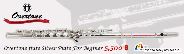 Overtone Flute Student Model Silver Plate